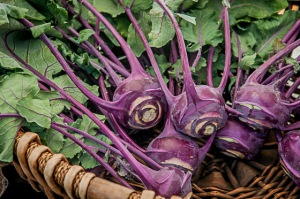 In case you were wondering, this is what a kohlrabi looks like!